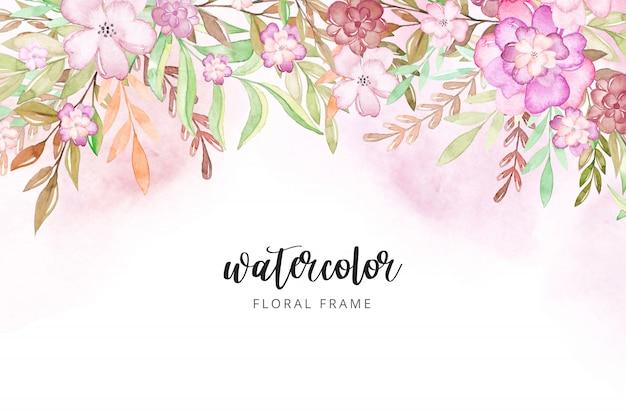 Aquarelle fond floral.