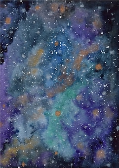 Aquarelle fond de galaxie