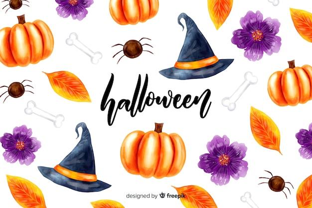 Aquarelle fond d'halloween