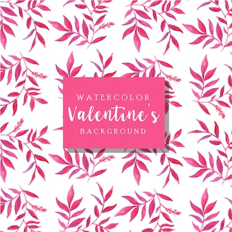 Aquarelle fond saint-valentin