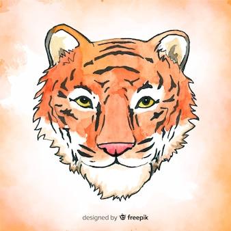 Aquarelle fond de tigre