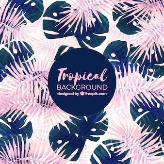 Aquarelle fond tropical avec un style élégant