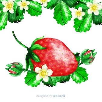 Aquarelle fraise