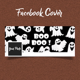 Aquarelle halloween couverture facebook