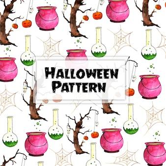 Aquarelle halloween éléments de fond