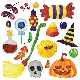 Aquarelle halloween ensemble.