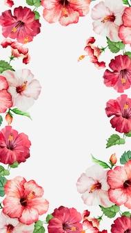 Aquarelle hibiscus fond d'écran