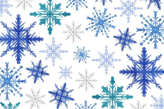 Aquarelle d'hiver de fond