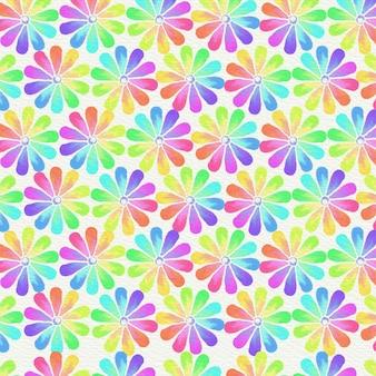 Aquarelle illustration abstraite avec des fleurs d'été