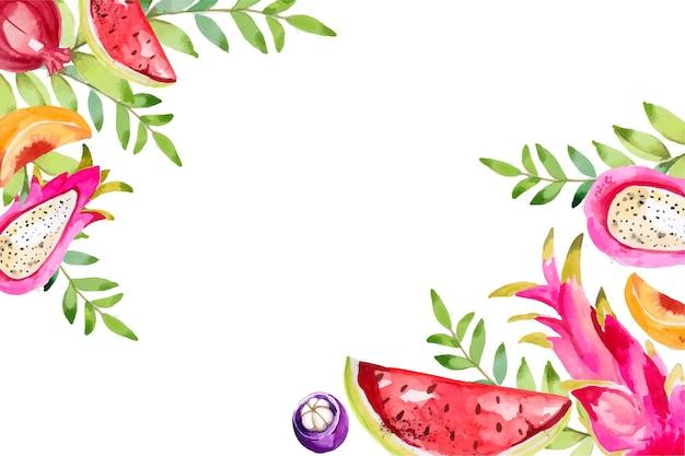 Aquarelle d'illustration de fruits colorés