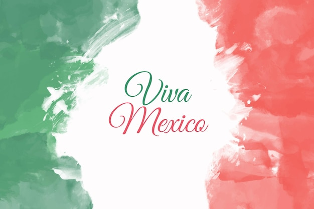 Aquarelle independencia de méxico
