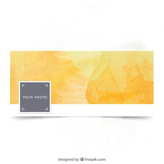 Aquarelle jaune couverture facebook