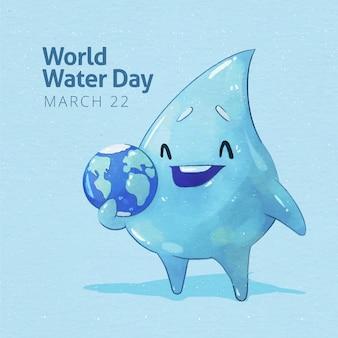 Aquarelle de la journée mondiale de l'eau