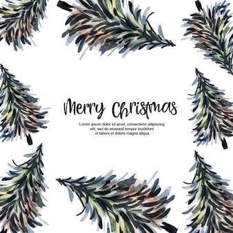 Aquarelle Joyeux Noël Cadres De Fond