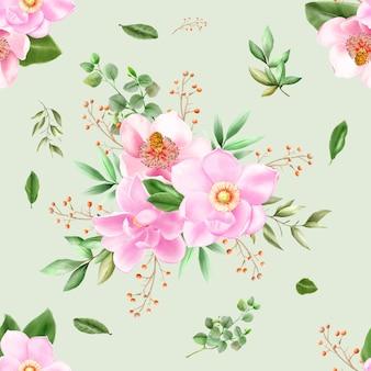 Aquarelle de magnolia modèle sans couture