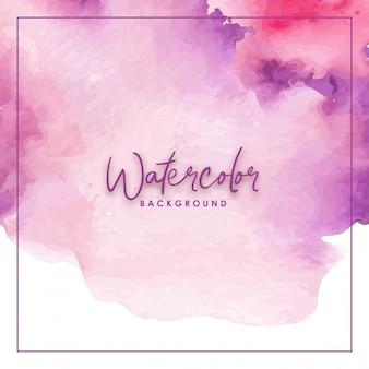 Aquarelle à la main dégradé splash rose et violet