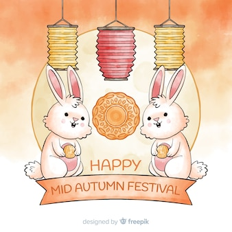 Aquarelle mi festival d'automne