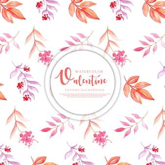 Aquarelle motif coeur valentine