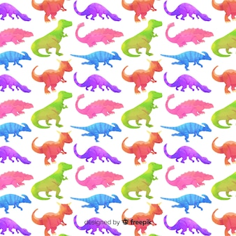 Aquarelle motif de dinosaure