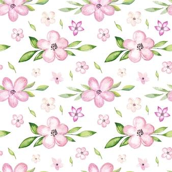 Aquarelle motif de fleurs de cerisier