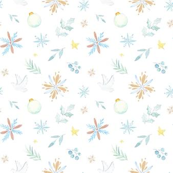 Aquarelle motif noël