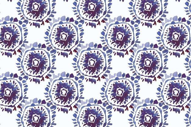Aquarelle de motif peint à la main shibori