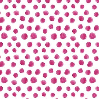Aquarelle motif pointillé couleurs roses