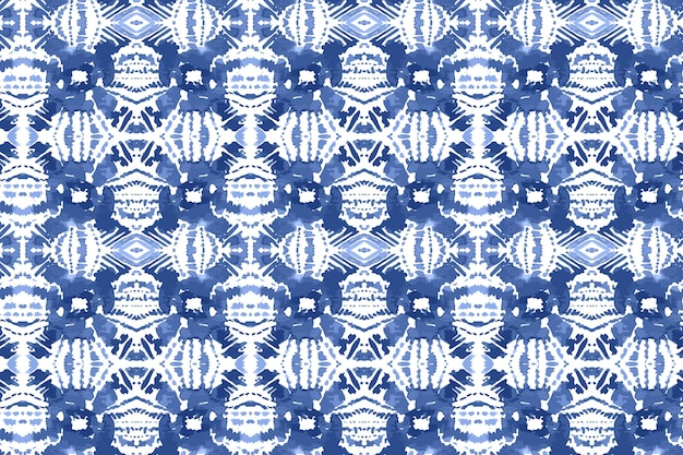 Aquarelle motif shibori traditionnel