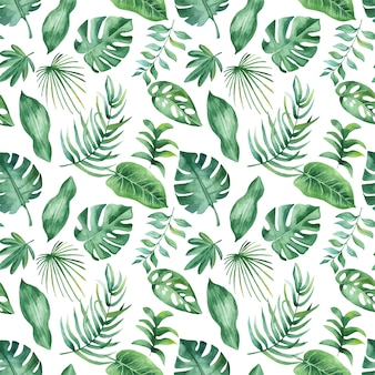 Aquarelle motif tropical