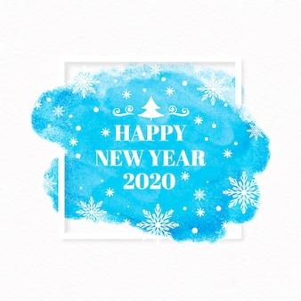 Aquarelle nouvel an 2020