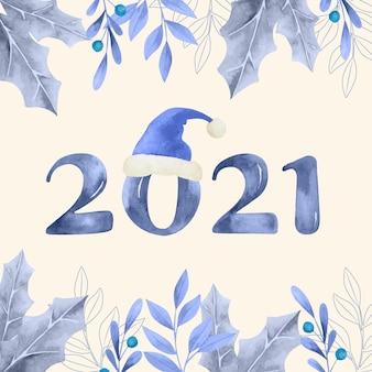 Aquarelle nouvel an 2021