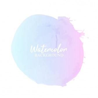 Aquarelle pastel bleu rose