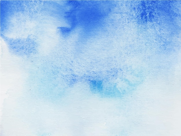 Aquarelle peinte à la main abstraite bleue
