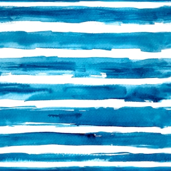 Aquarelle rayures bleues dessinées à la main