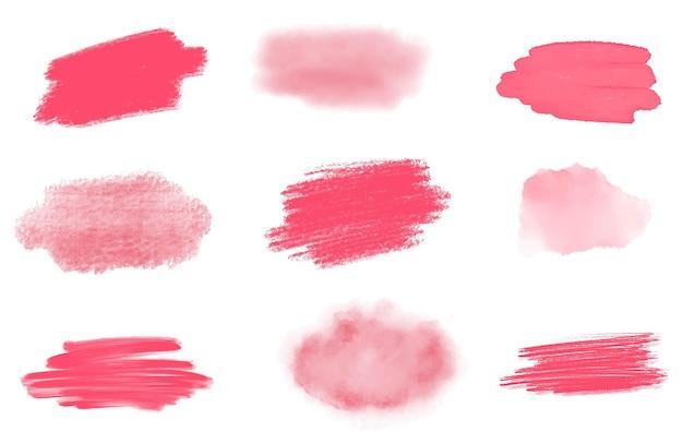 Aquarelle rose et éclaboussures acryliques