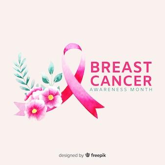 Aquarelle sensibilisation au cancer du sein