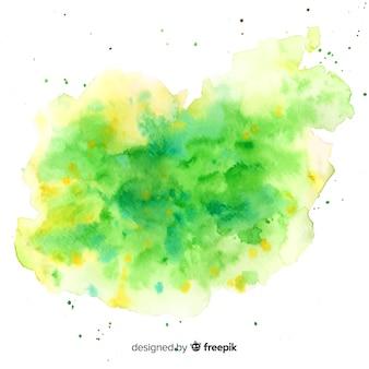 Aquarelle tache avec forme abstraite