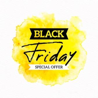 Aquarelle tache vendredi noir bannière offre spéciale