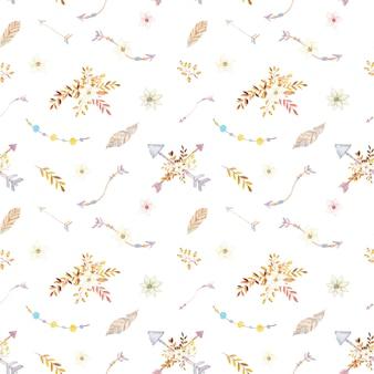 Aquarelle teepee motif floral