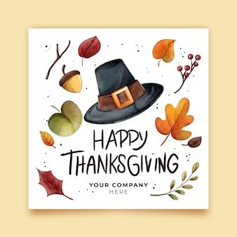 Aquarelle thanksgiving instagram posts