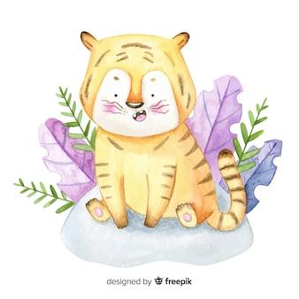 Aquarelle tigre