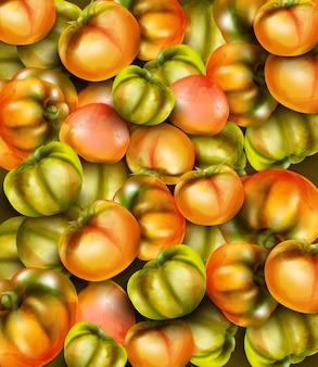 Aquarelle de tomates vertes