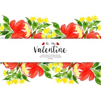 Aquarelle valentine arrière-plans