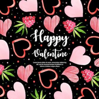 Aquarelle valentine elements background