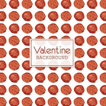 Aquarelle valentine fond de point de polka