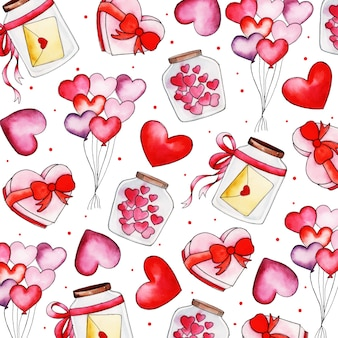 Aquarelle valentine de fond