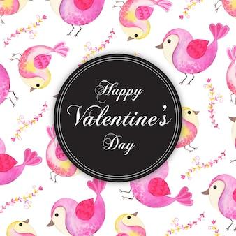 Aquarelle valentine motif arrière-plans