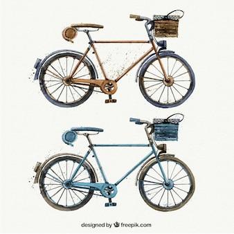 Aquarelle vélos rétro