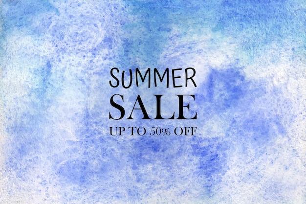 Aquarelle vente d'été. taches colorées d'aquarelle peintes à la main sur papier