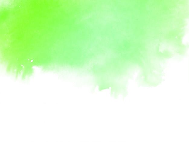 Aquarelle verte abstraite